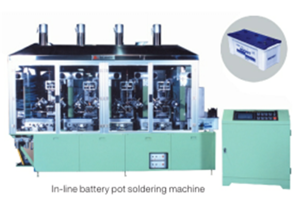 In-line automotive battery in,out pots soldering machine.png